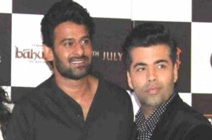 Prabhas Speak Up On His Fight With Karan Johar - Sakshi