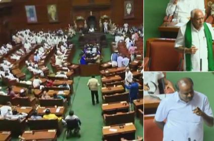 Kumaraswamy Wins Floor Test In Karnataka Assembly - Sakshi