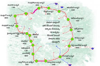 Establish heavy drinking water pipelines around outer ring road - Sakshi