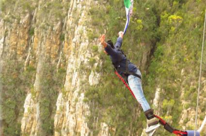 Party Activist Supports Ys Jagan Padayatra With Bungy Jump In South Africa - Sakshi