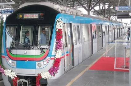 LB nagar-Ameerpet Metro Rail inaugurated By Governor narasimhan - Sakshi