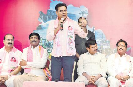 Congress Leaders Will change Diapers Also Said By KTR - Sakshi