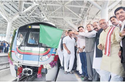 Metro Rail Inagurated By Governor ESL Narasimhan - Sakshi