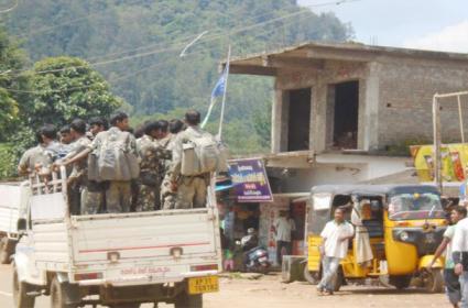 Police Coombing In Livitiputtu Visakhapatnam AOB - Sakshi