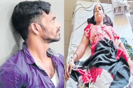 Husband attack on wife and her family - Sakshi