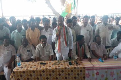 Khammam Congress Rebel Radha Kishore Slams Congress High Command - Sakshi