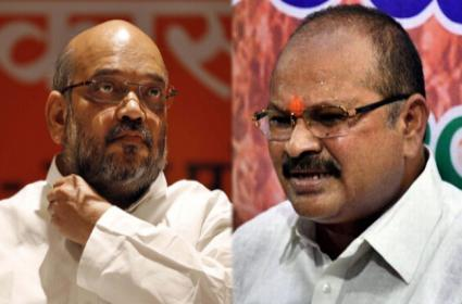 Amit Shah meets leaders to review setback - Sakshi
