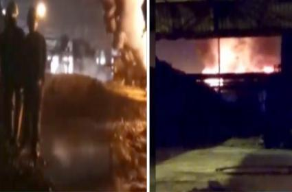 Massive Fire Accident Took Place At Vizag Steel Plant - Sakshi