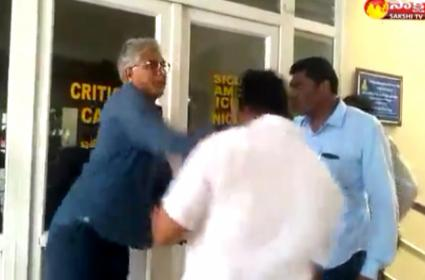 Yarapathineni Srinivasa Rao Followers Attacks Former MLA Family - Sakshi