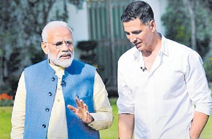 Akshay Kumar interview with Prime Minister Narendra Modi - Sakshi