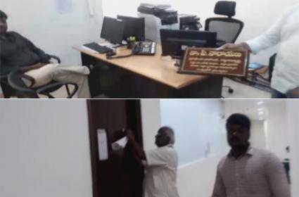 TDP Ministers,Chandrababu NamePlates Removed in AP Secretariat - Sakshi