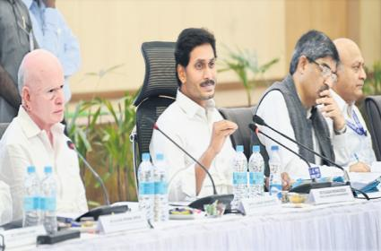 CM YS Jagan Mohan Reddy holds Collectors meeting at Praja Vedika - Sakshi