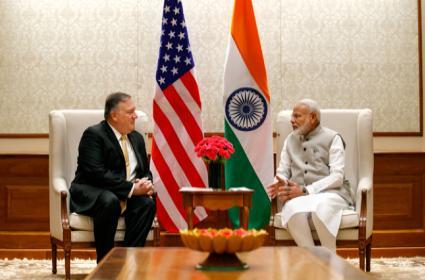 Mike Pompeo in India, Meets PM Modi, Jaishankar - Sakshi