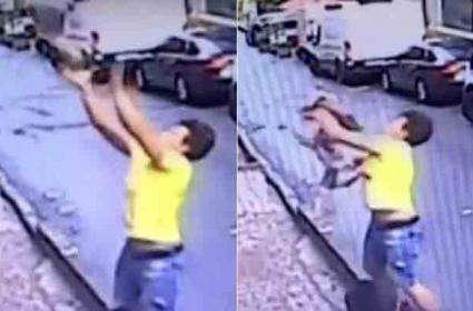 In Turkey Baby Falls From Second Floor Caught By Teenager - Sakshi