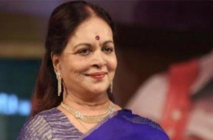 Senior Actress And Filmmaker Vijaya Nirmala Passed Away - Sakshi