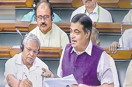 Nitin Gadkari Speech On Lok Sabha About Road Toll Fee - Sakshi