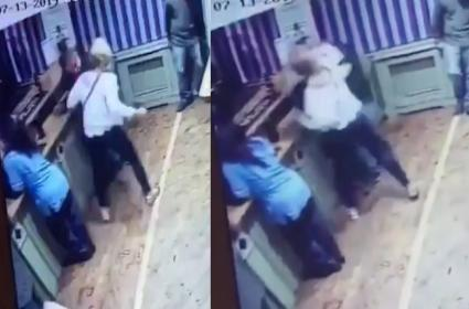 Woman Punches Man In Face Repeatedly In Scottish Bar - Sakshi