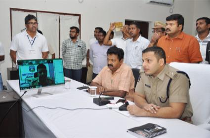 Prakasam Police Have Created A New History By Linking The Police Stations Of The District To The Video Conference - Sakshi