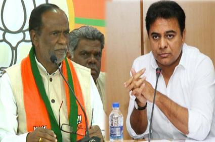 BJP State President K Laxman Fires On TRS At BJP Office In Hyderabad - Sakshi