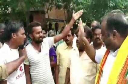 Penumudi Pallepalem People Fires On Repalle TDP MLA Anagani Satya Prasad - Sakshi