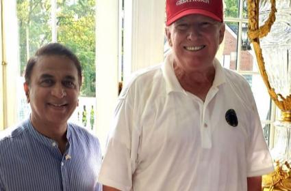 Gavaskar Meets Donald Trump In New York - Sakshi