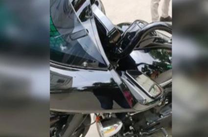 Delhi Man Was Fined Playing Music on Harley Davidson Bike - Sakshi