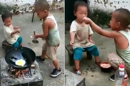 Toddler Cooks Indonesian Fried Rice For His Little Sister Viral Video - Sakshi