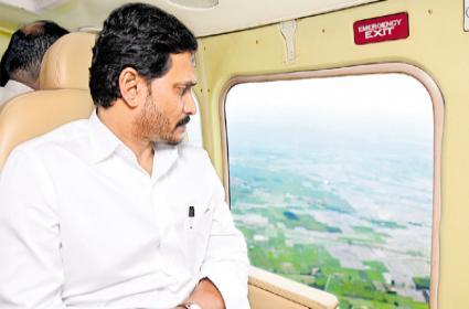 CM Jagan Mohan Reddy Begins Aerial Survey Of Kurnool - Sakshi