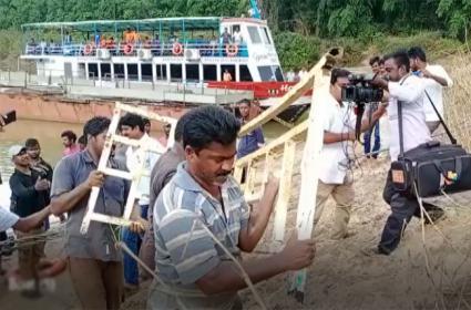 Satyam Team Finds Boat Location In Godavari At Kajuluru - Sakshi