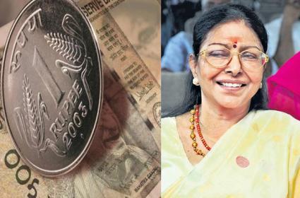 Senior Actress Sharada Remind Memory With VV Antony - Sakshi