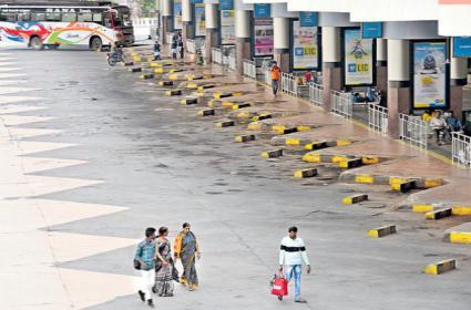 Telangana RTC Employees Strike Bandh Peacefully - Sakshi