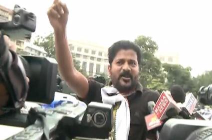 Revanth Reddy Reaches Pragathi Bhavan On Bike - Sakshi