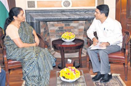 Buggana Rajendranath Met Nirmala Sitharaman in Delhi - Sakshi