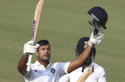 India Vs Bangladesh 1st Test Mayank Agarwal Hits Double Century - Sakshi