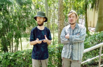 Two Russian Nationals Visit Horsley Hills - Sakshi