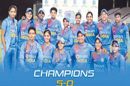 India Women Cricket Team Won The T20 Series Against West Indies - Sakshi
