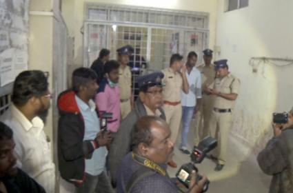 Heavy Security At Gandhi Hospital - Sakshi