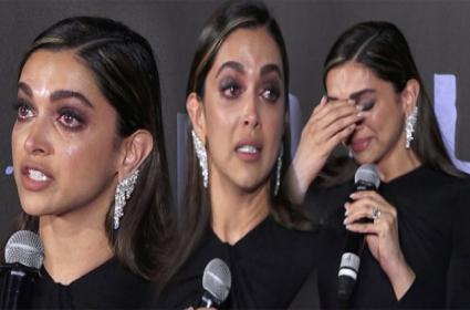 Deepika Padukone Crying At Chhapaak Trailer Launch - Sakshi