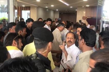 TDP Leaders Warns Marshals At Assembly - Sakshi