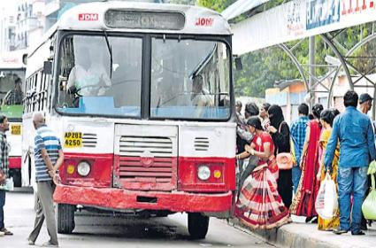 Officials Planning To Reduce Number Of City Buses In City Within Three Days - Sakshi