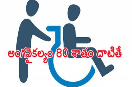 Second Pension For A Single Family If Disability Exceeds 80 Percent - Sakshi