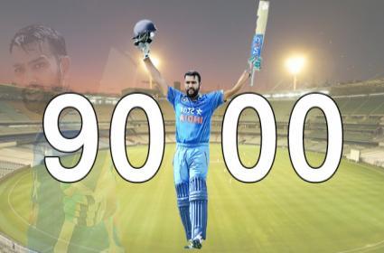 IND VS AUS 3rd ODI: Rohit Reaches 9000 ODI Runs - Sakshi
