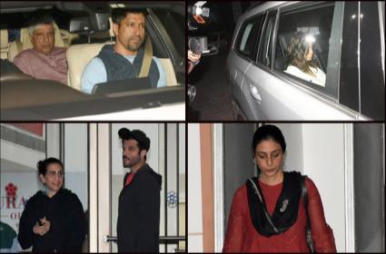 Bollywood Actors Visit Shabana Azmi - Sakshi