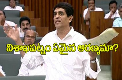 Is Visakhapatanm Forest, Buggana Rajendranath Reddy questions - Sakshi