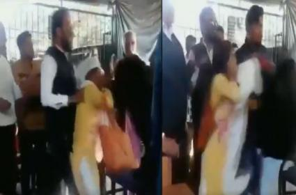 A Woman Layer And Local Women Fight In Madhya Pradesh - Sakshi