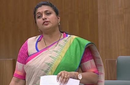 RK Roja Slams Chandrababu Naidu In AP Assembly - Sakshi
