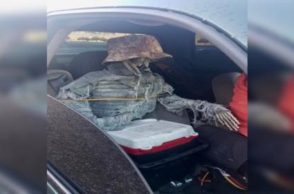 Man Drives Car With Skeleton In Arizona - Sakshi