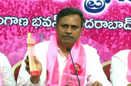 Palla Rajeshwar Reddy Slams On Congress And BJP In Telangana Bhavan - Sakshi