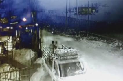 Car Accident In Bharat Nagar Fly Over Bridge In Hyderabad - Sakshi
