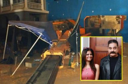 Indian 2 Accident: Kamal Haasan, Kajal Narrow Escape - Sakshi